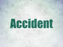 Insurance concept: Accident on Digital Data Paper background. Insurance concept: Painted green text Accident on Digital Data Paper background with  Scheme Of Stock Image