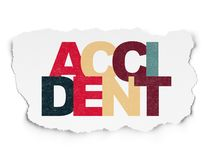 Insurance concept: Accident on Torn Paper background. Insurance concept: Painted multicolor text Accident on Torn Paper background Royalty Free Stock Photography
