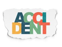 Insurance concept: Accident on Torn Paper background. Insurance concept: Painted multicolor text Accident on Torn Paper background Royalty Free Stock Images
