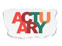 Insurance concept: Actuary on Torn Paper background. Insurance concept: Painted multicolor text Actuary on Torn Paper background Royalty Free Stock Photography