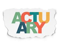 Insurance concept: Actuary on Torn Paper background. Insurance concept: Painted multicolor text Actuary on Torn Paper background Stock Image