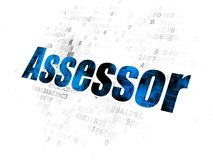 Insurance concept: Assessor on Digital background Royalty Free Stock Photography