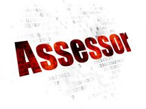 Insurance concept: Assessor on Digital background Stock Image