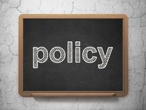 Insurance concept: Policy on chalkboard background Royalty Free Stock Photo