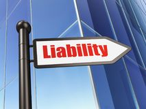 Insurance concept: sign Liability on Building background Royalty Free Stock Photo