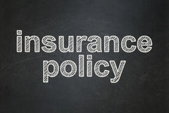 Insurance concept: Insurance Policy on chalkboard background Stock Photos