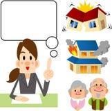 Insurance consultation Stock Image