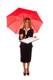 Insurance contract. Insurance professional giving you the best protection (isolated on white Stock Photo
