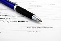 Insurance Contract royalty free stock photography