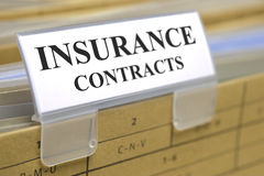 Insurance contracts Stock Photography