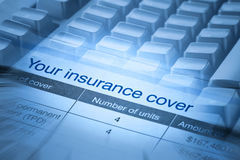 Insurance Cover Royalty Free Stock Image