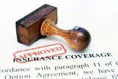 Insurance coverage Royalty Free Stock Photos