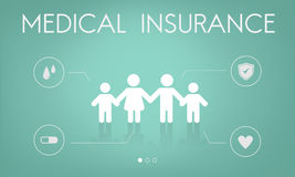 Insurance Coverage Mix Reimbursement Protection Concept. Health Medical Insurance Protection Concept Stock Photography