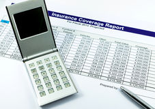 Insurance coverage report Stock Photography