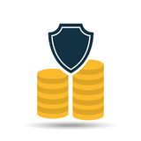 Insurance currency money coin icon design. Illustration Stock Images