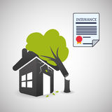 Insurance design. house icon. isolated illustration Royalty Free Stock Photos