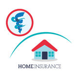 Insurance design. house icon. isolated illustration Royalty Free Stock Photography