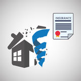 Insurance design. house icon. isolated illustration Stock Photography