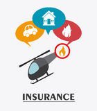 Insurance design. Stock Image