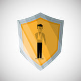 Insurance design. Safety icon. Isolated illustration Royalty Free Stock Photo