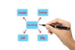 Insurance diagram Royalty Free Stock Images