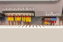 Insurance in an electric cabinet Stock Image