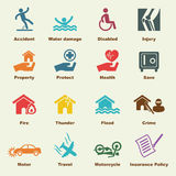 Insurance elements. Vector infigraphic icons Stock Photo