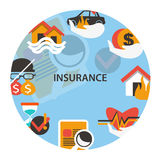 Insurance emblem. Stock Image