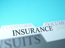 Insurance file Royalty Free Stock Photos