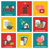 Insurance flat design icon Stock Image