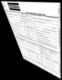 Insurance form blank isolated, black background Stock Images