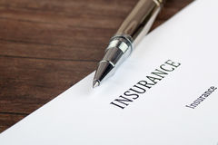 Insurance  form on the desk in the office Stock Images