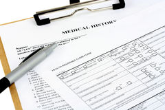 Insurance Forms Royalty Free Stock Photo
