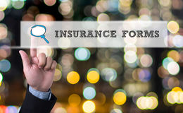 INSURANCE FORMS CONCEPT Royalty Free Stock Photo