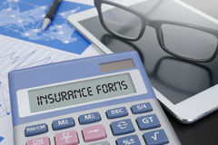 INSURANCE FORMS CONCEPT Royalty Free Stock Photography