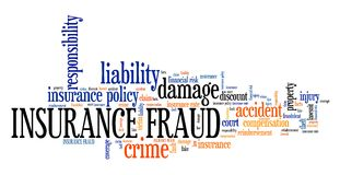 Insurance fraud. Financial crime. Tag cloud concept Royalty Free Stock Photography