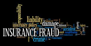Insurance fraud Royalty Free Stock Image