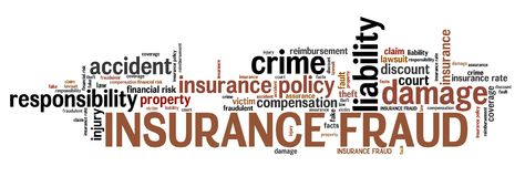 Insurance fraud. Financial crime. Word cloud concept Royalty Free Stock Photo