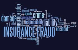 Insurance fraud. Financial crime. Word cloud concept Stock Photos