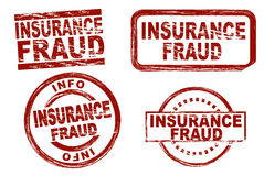 Insurance fraud ink stamp set Royalty Free Stock Photos