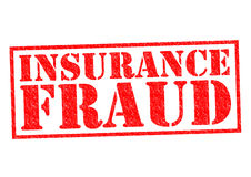 INSURANCE FRAUD. Red Rubber Stamp over a white background Stock Photography