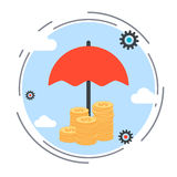 Insurance, funds protection, financial security vector concept Royalty Free Stock Photo