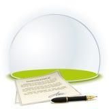 Insurance globe Royalty Free Stock Photo