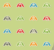 Insurance hand icon set Royalty Free Stock Photo