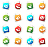 Insurance hands icons Royalty Free Stock Photography