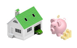 Insurance home, house, life, car protection.  Royalty Free Stock Images