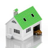 Insurance home, house, life, car protection. Buying house and car for family icon. Protect people Concepts. 3D illustration. Icon. For the web site of the bank Royalty Free Stock Images