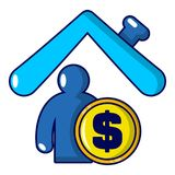 Insurance home icon, cartoon style. Insurance home icon. Cartoon illustration of insurance home vector icon for web Royalty Free Stock Photos