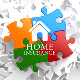 Insurance - Home Icon on Multicolor Puzzle. Royalty Free Stock Images