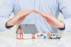 Insurance Home Live Car Protection Concept Royalty Free Stock Photo